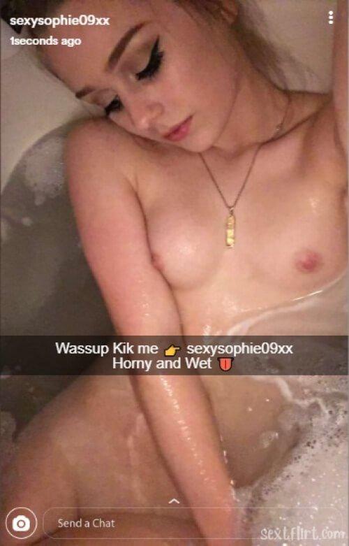 Sex kik girl Snapchat Sexting